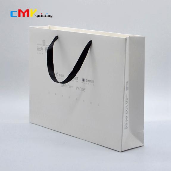 纸袋-手袋手提袋手挽袋卡纸纸袋丝带绳黑色