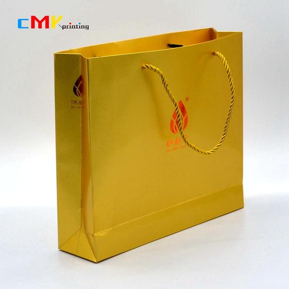 金色特种纸手袋金色绳子