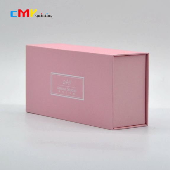 深圳包装印刷粉色翻盖盒